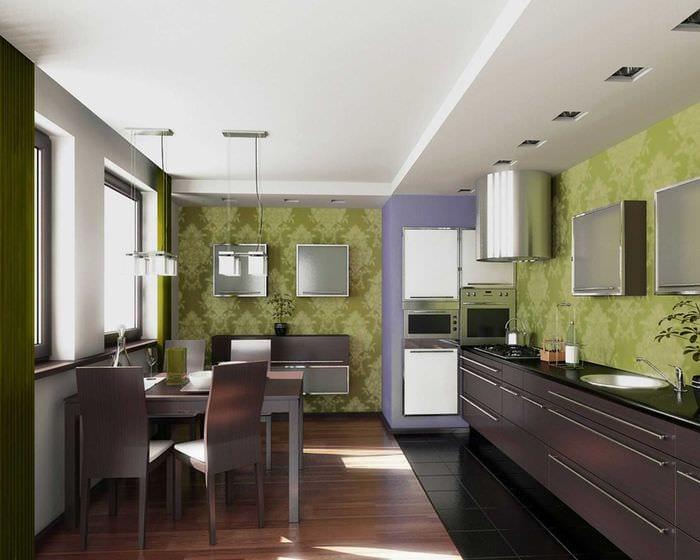 комбинирование светлых тонов в интерьере кухни