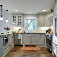 сочетание темных оттенков в декоре кухни картинка