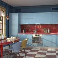 сочетание темных тонов в интерьере кухни фото