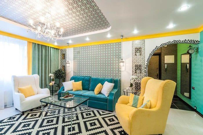 сочетание светлых штор в дизайне квартире
