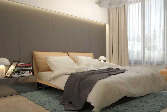 сочетание темных оттенков в стиле спальни
