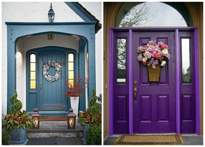 Декор входной двери своими руками