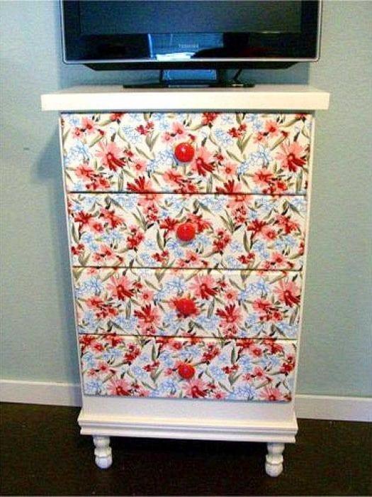 45 Способов обновить шкаф с помощью обоев - t