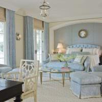 светлый стиль комнаты в голубом цвете фото