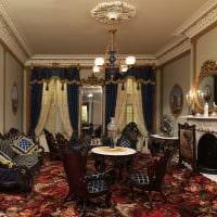красивый интерьер гостиной в стиле ампир картинка
