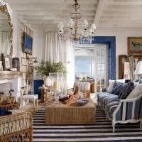 светлый дизайн спальни в средиземноморском стиле картинка