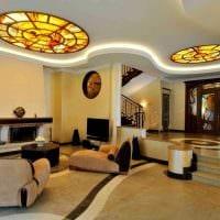 необычный декор гостиной в стиле модерн фото