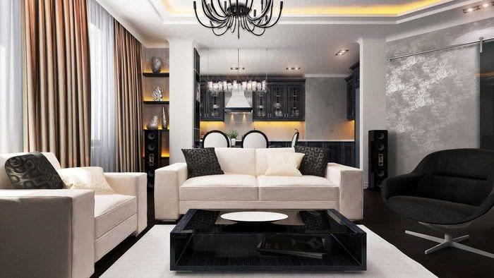 красивый интерьер квартиры в стиле модерн