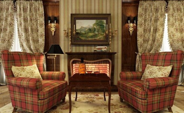 яркий интерьер квартиры в викторианском стиле
