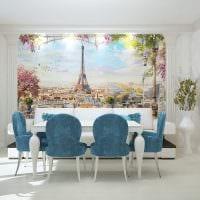 красивый стиль гостиной в голубом цвете фото
