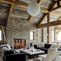 красивый интерьер комнаты в стиле рустик фото