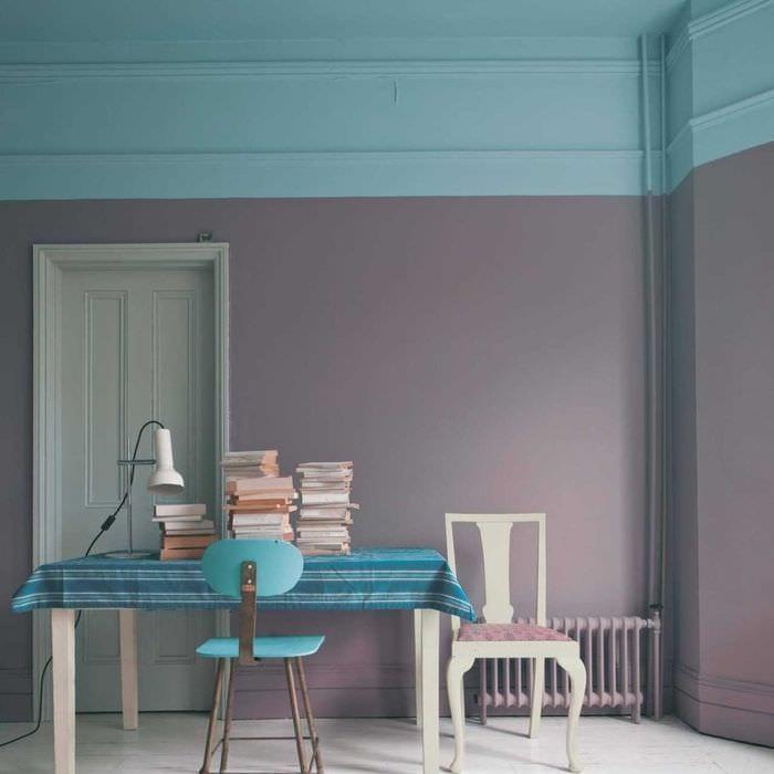 Покраска стен двумя цветами в квартире