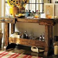 красивый интерьер кухни в стиле рустик фото