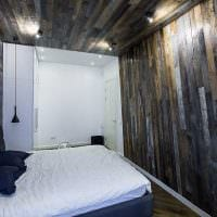 светлый дизайн комнаты со старыми досками картинка