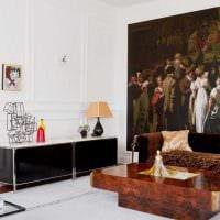светлый дизайн спальни со стеновыми панелями картинка