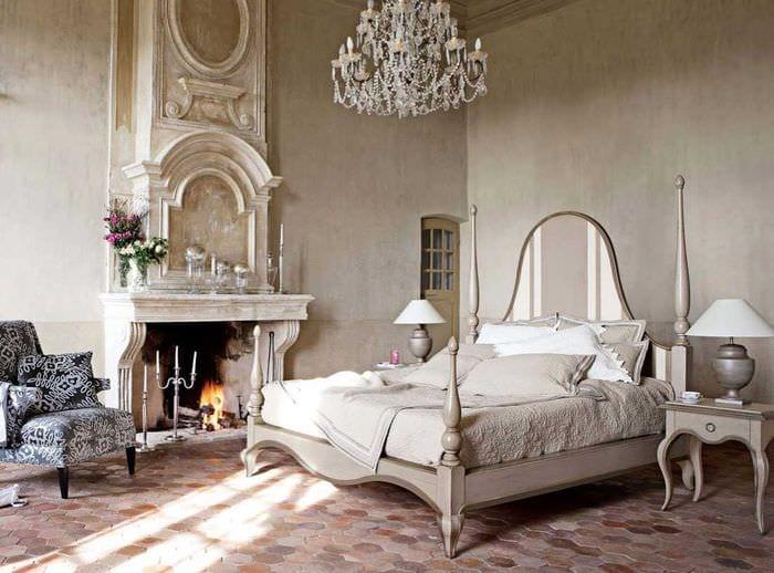 необычный фасад спальни в винтажном стиле