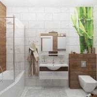 светлый стиль ванной комнаты фото