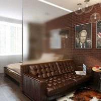 красивый дизайн гостиной спальни картинка