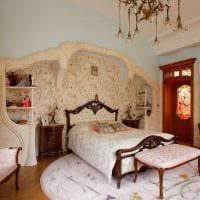 светлый декор спальни в стиле модерн фото