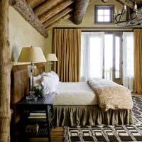 яркий декор гостиной в стиле рустик фото
