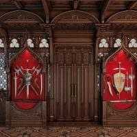 яркий дизайн спальни в готическом стиле картинка