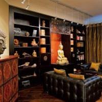 яркий стиль гостиной в восточном стиле фото
