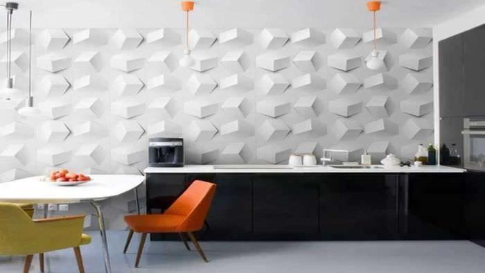красивый дизайн комнаты со стеновыми панелями