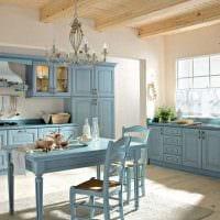 светлый декор квартиры в голубом цвете картинка