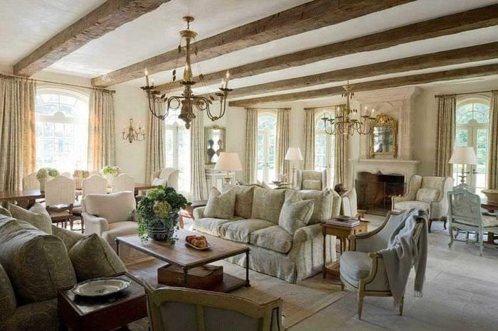 светлый интерьер квартиры в стиле прованс