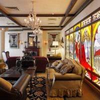 яркий стиль квартиры в готическом стиле фото