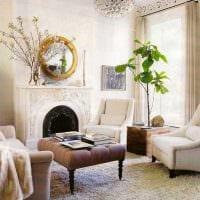 красивый стиль гостиной в винтажном стиле фото