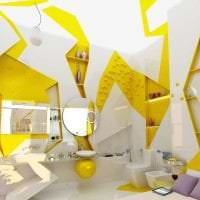 красивый дизайн комнаты в горчичном цвете картинка