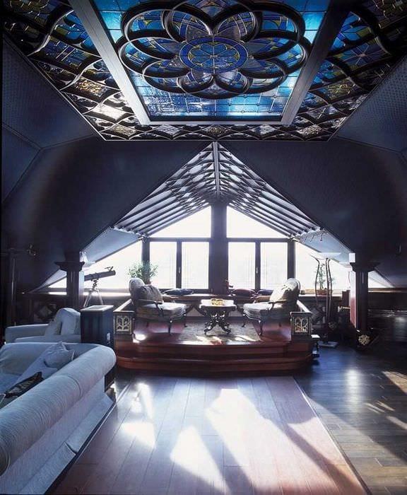 необычный стиль комнаты в готическом стиле