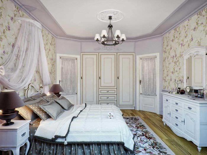 яркий стиль спальни в стиле прованс