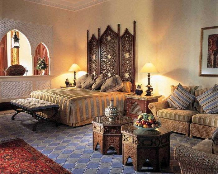 красивый стиль спальни в восточном стиле
