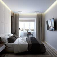 светлый интерьер гостиной спальни фото