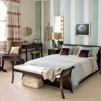 оригинальный стиль комнаты в голубом цвете фото