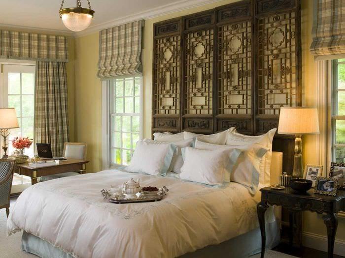 современный интерьер комнаты в восточном стиле