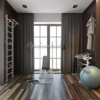 классический темный пол в декоре комнаты фото