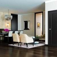 темные двери в стиле кухни картинка