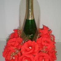 оригинальное декорирование бутылок для стиля комнаты фото