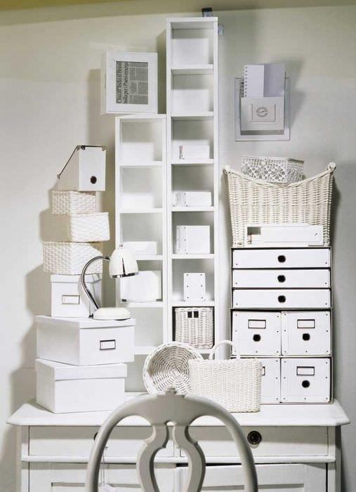 оригинальное оформление коробок для хранения подручными материалами