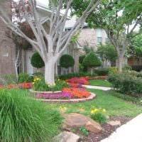 необычное оформление дизайна загородного дома цветами картинка