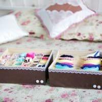 яркое украшение коробок для хранения подручными материалами фото