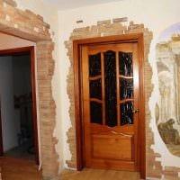 красивое украшение входных дверей подручными материалами фото