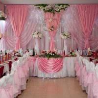 необычное украшение свадебного зала шариками фото