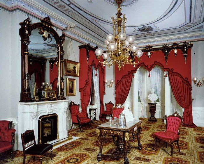 оригинальный дизайн гостиной в стиле ампир