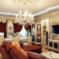 светлый интерьер комнаты в стиле ампир фото