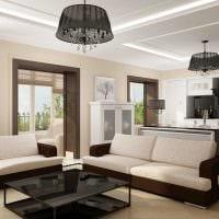 светлый декор гостиной в стиле модерн фото