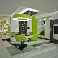 светлый декор гостиной в стиле модерн картинка